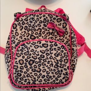 Girls Children's Place leopard backpack